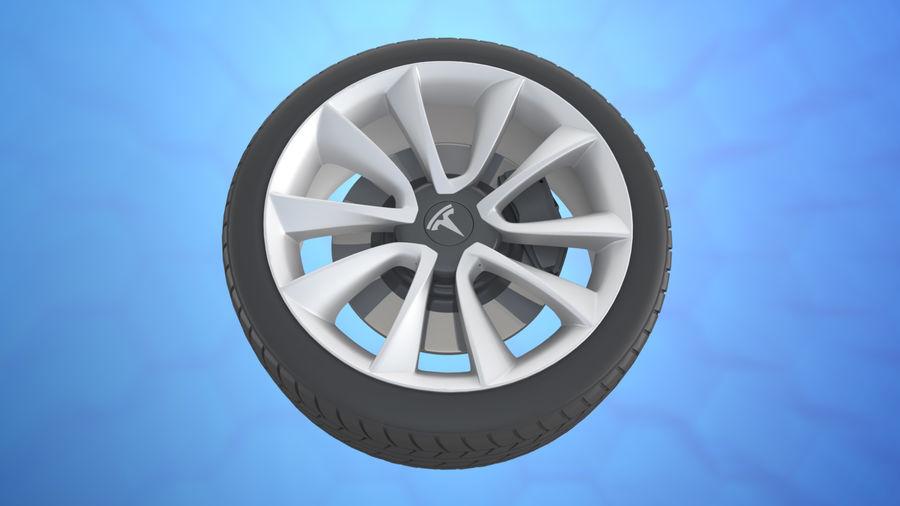 Car tesla model 3 wheel royalty-free 3d model - Preview no. 6