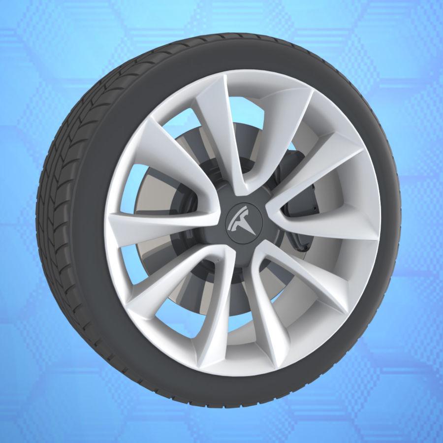 Car tesla model 3 wheel royalty-free 3d model - Preview no. 1
