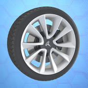 Автомобиль Тесла модель 3 колеса 3d model