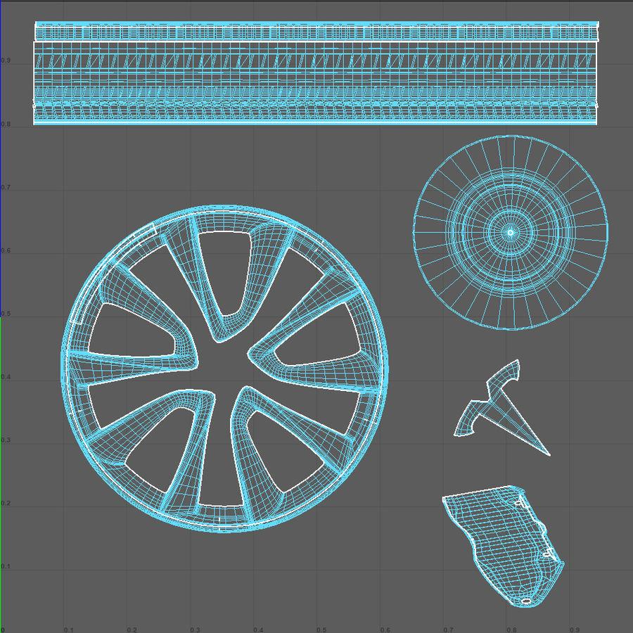 Car tesla model 3 wheel royalty-free 3d model - Preview no. 7