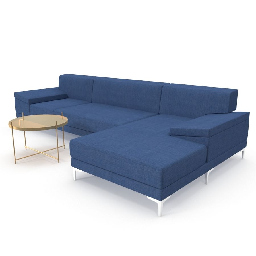 Sofa Faza Cannes royalty-free 3d model - Preview no. 3