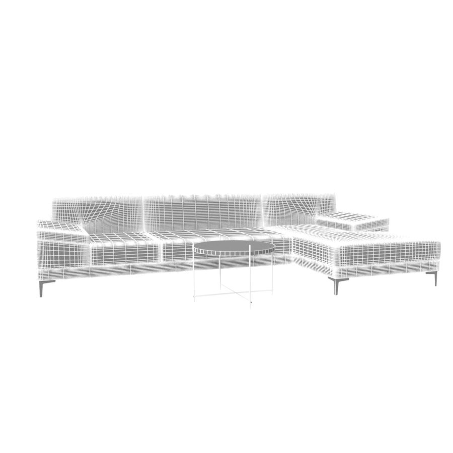 Sofa Faza Cannes royalty-free 3d model - Preview no. 6