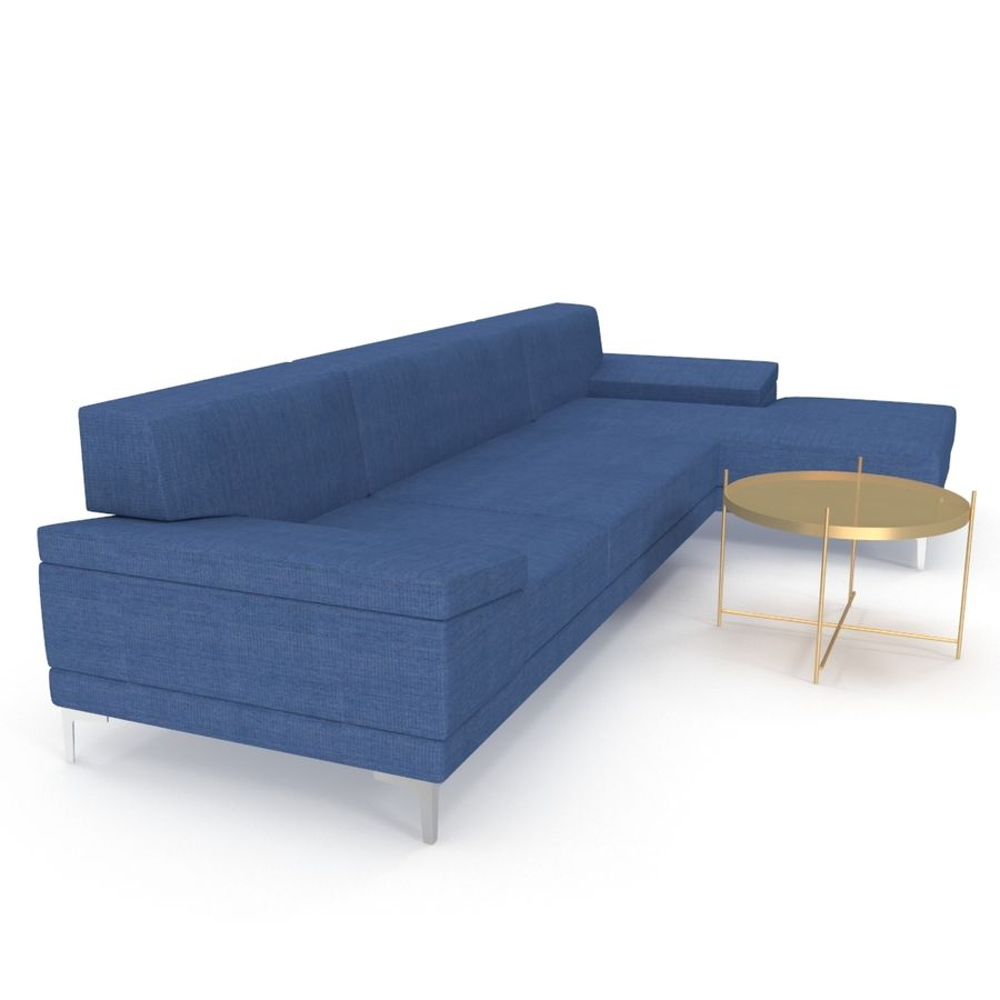 Sofa Faza Cannes royalty-free 3d model - Preview no. 2