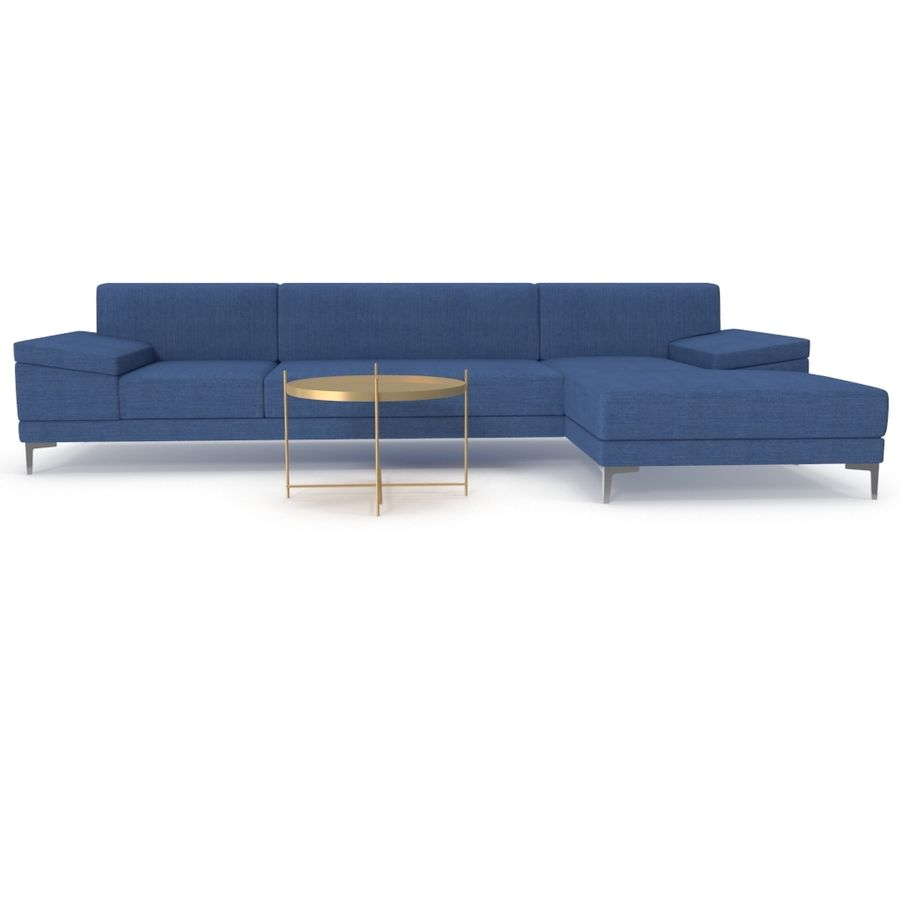 Sofa Faza Cannes royalty-free 3d model - Preview no. 4