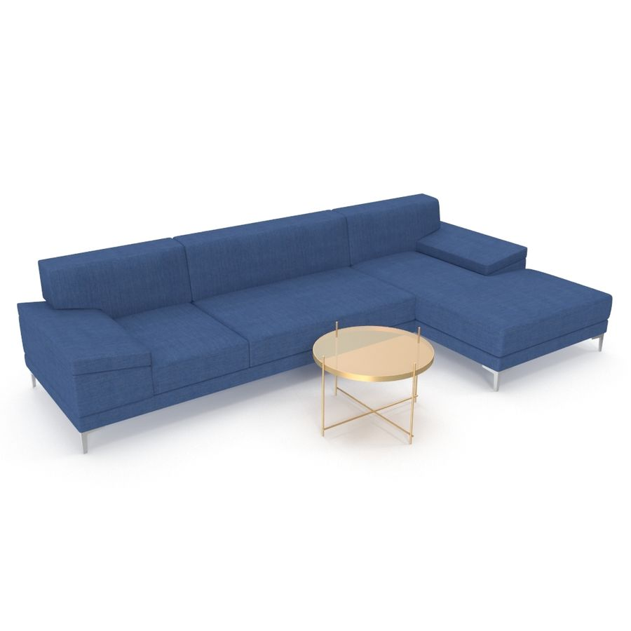 Sofa Faza Cannes royalty-free 3d model - Preview no. 1