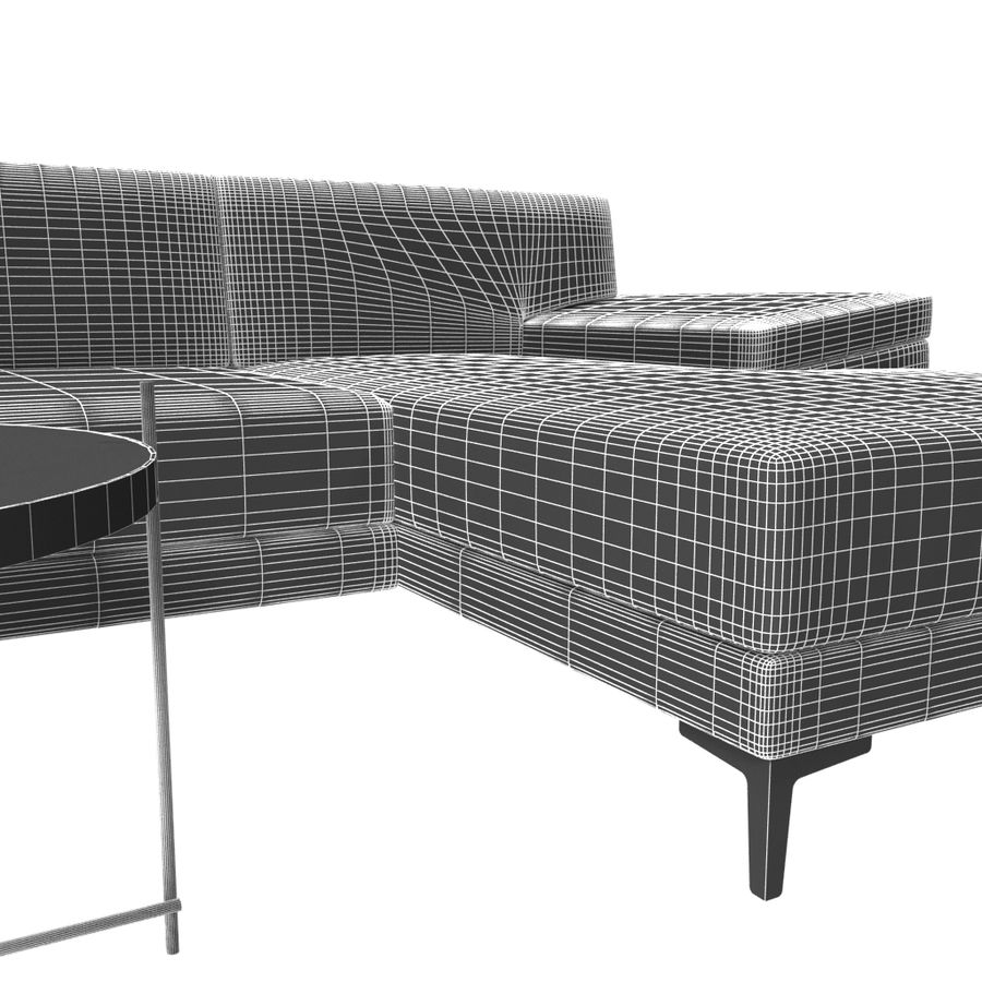 Sofa Faza Cannes royalty-free 3d model - Preview no. 7