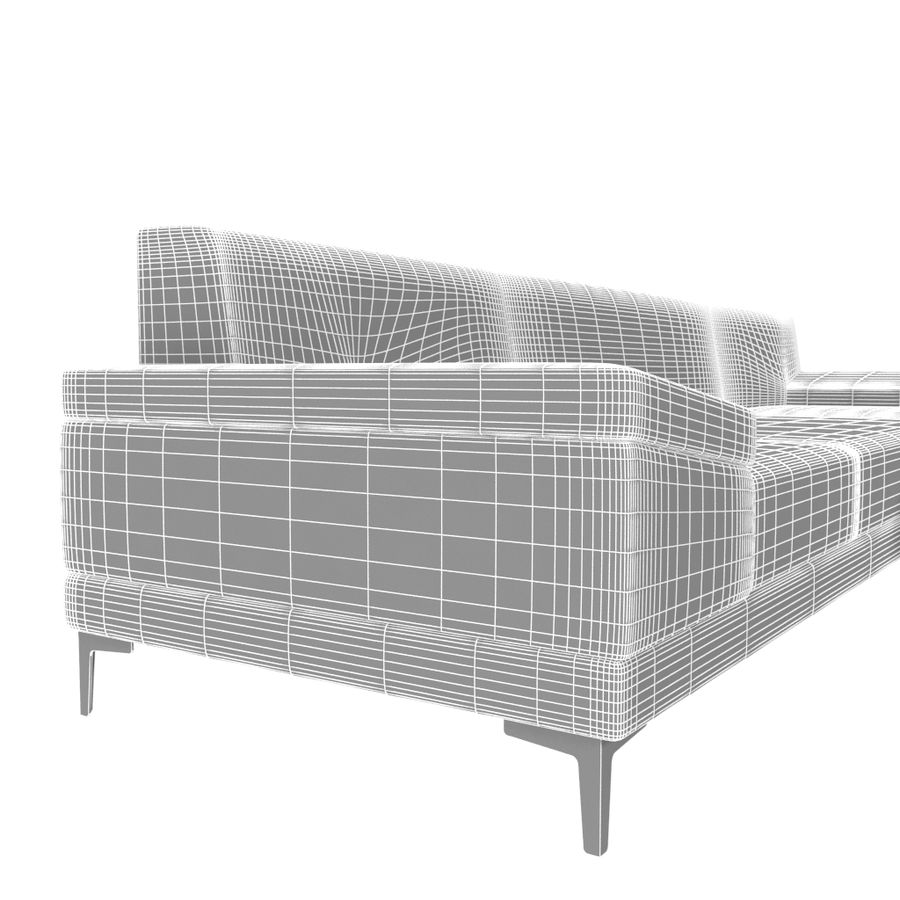 Sofa Faza Cannes royalty-free 3d model - Preview no. 5