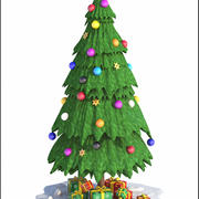 Weihnachtsbaum Cartoon 3d model