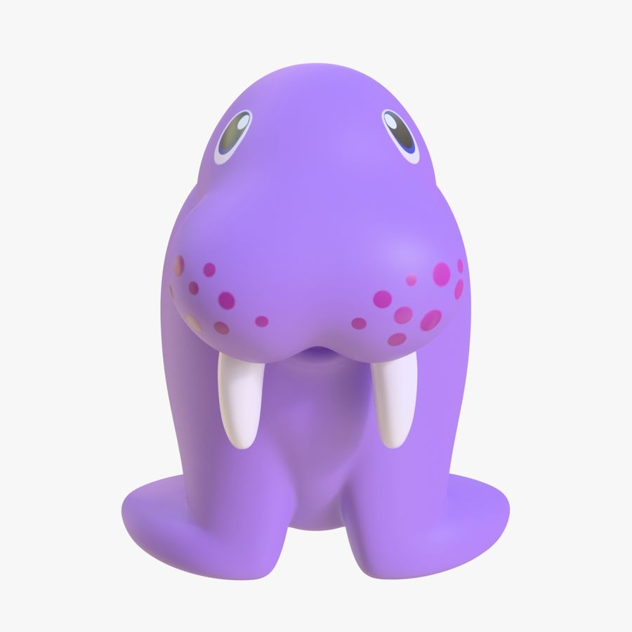 橡胶海象01 royalty-free 3d model - Preview no. 6