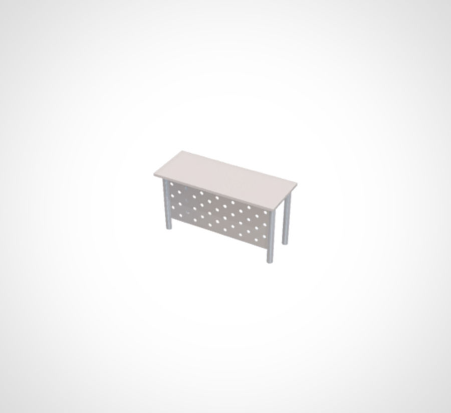 Minimalist Table and Cabinet royalty-free 3d model - Preview no. 4