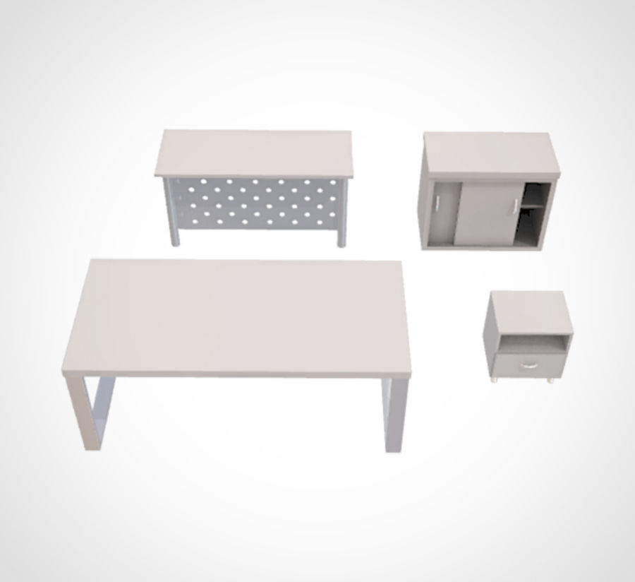 Minimalist Table and Cabinet royalty-free 3d model - Preview no. 2