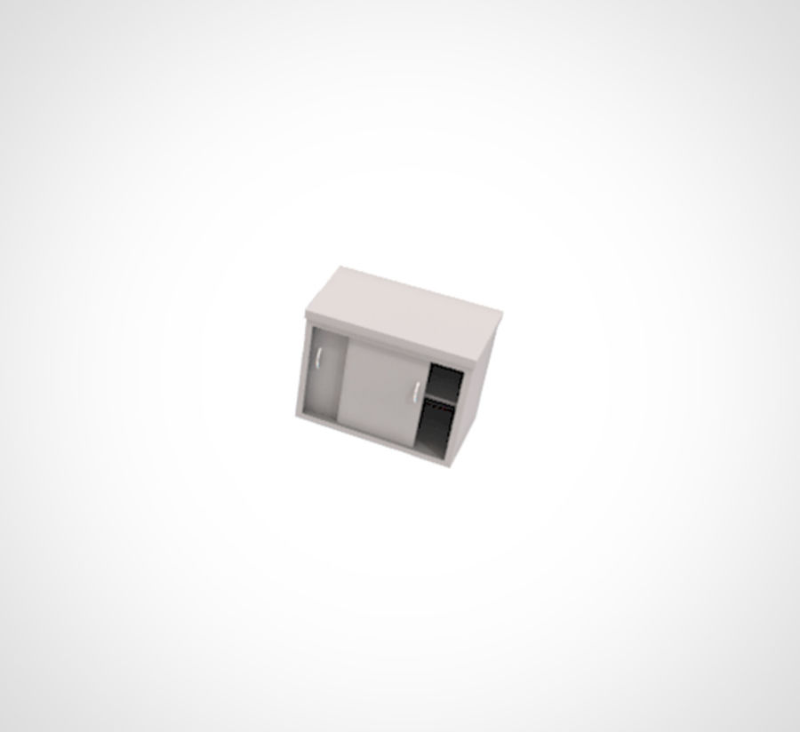 Minimalist Table and Cabinet royalty-free 3d model - Preview no. 5