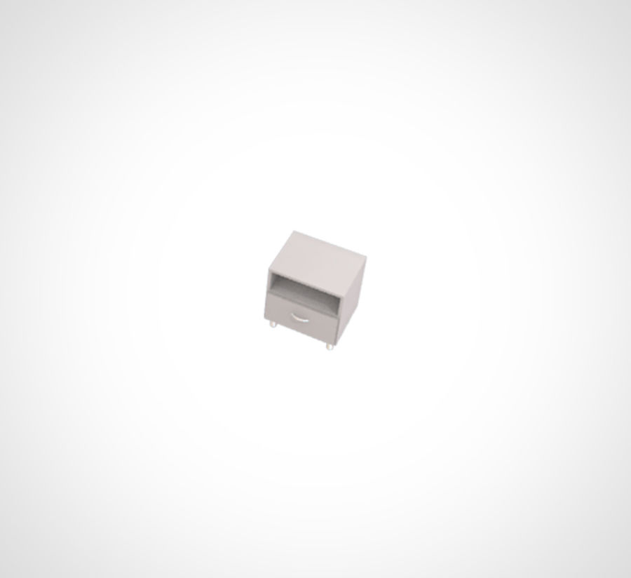 Minimalist Table and Cabinet royalty-free 3d model - Preview no. 6