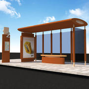 Busshållplats 10 3d model