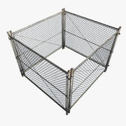 Metal Fence. Square 3d model