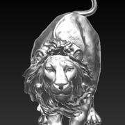 angry lion pendant 3d model