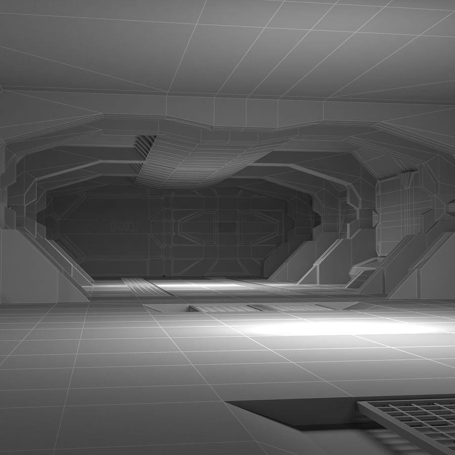 SciFi Interiör royalty-free 3d model - Preview no. 18
