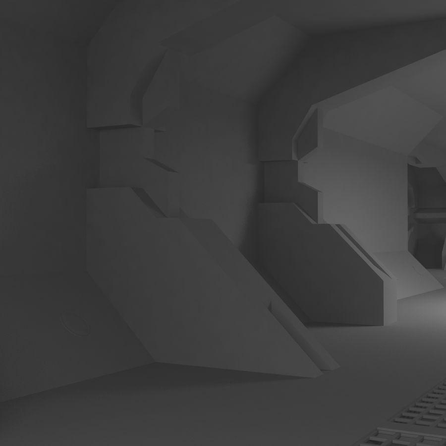 SciFi Interiör royalty-free 3d model - Preview no. 7