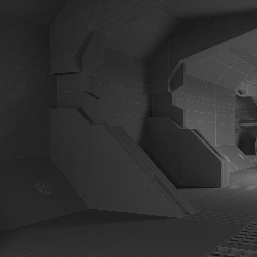 SciFi Interiör royalty-free 3d model - Preview no. 17