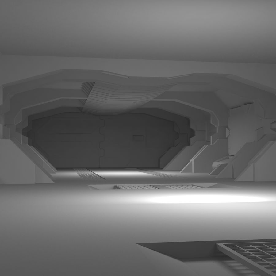 SciFi Interiör royalty-free 3d model - Preview no. 8