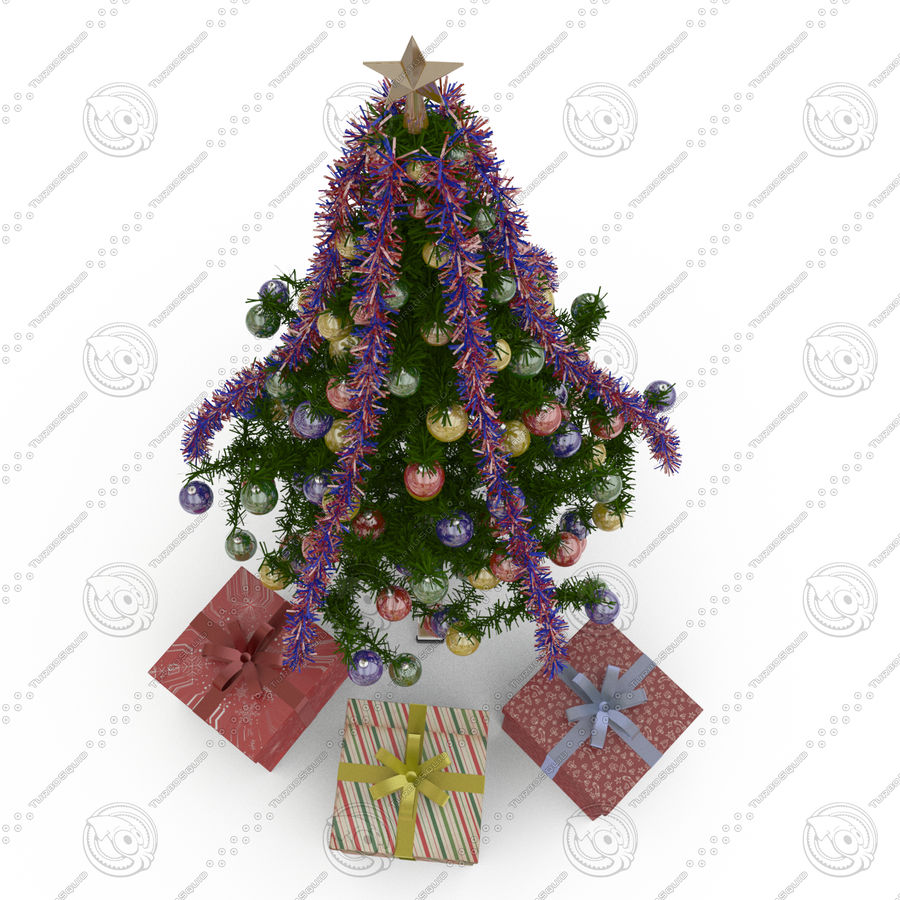 Sapin de Noël royalty-free 3d model - Preview no. 2