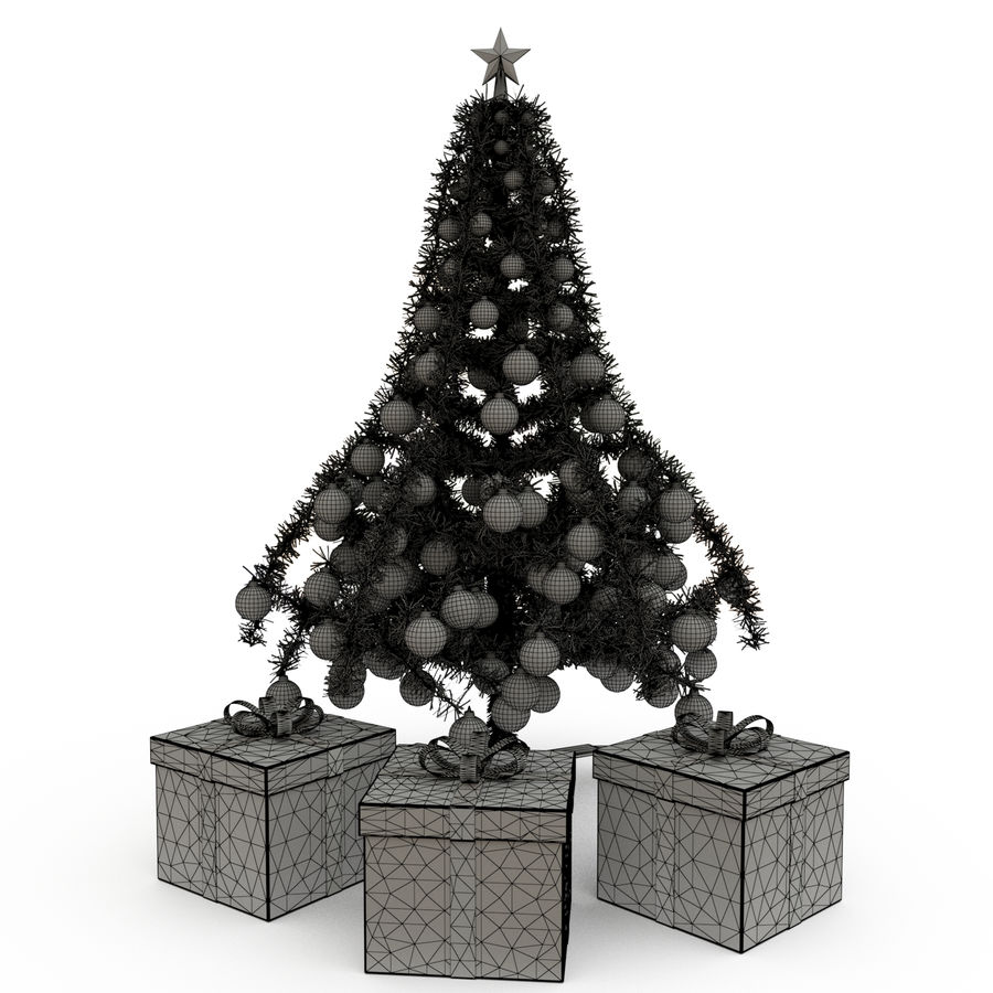 Sapin de Noël royalty-free 3d model - Preview no. 5