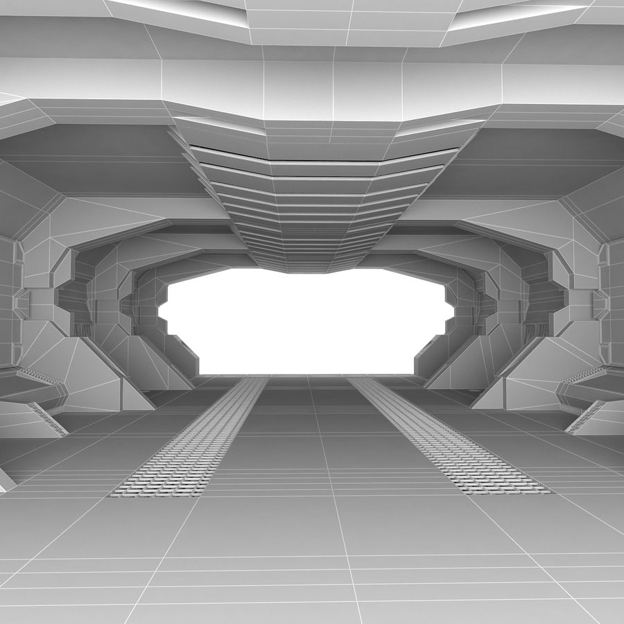 SciFi-Interieur royalty-free 3d model - Preview no. 7