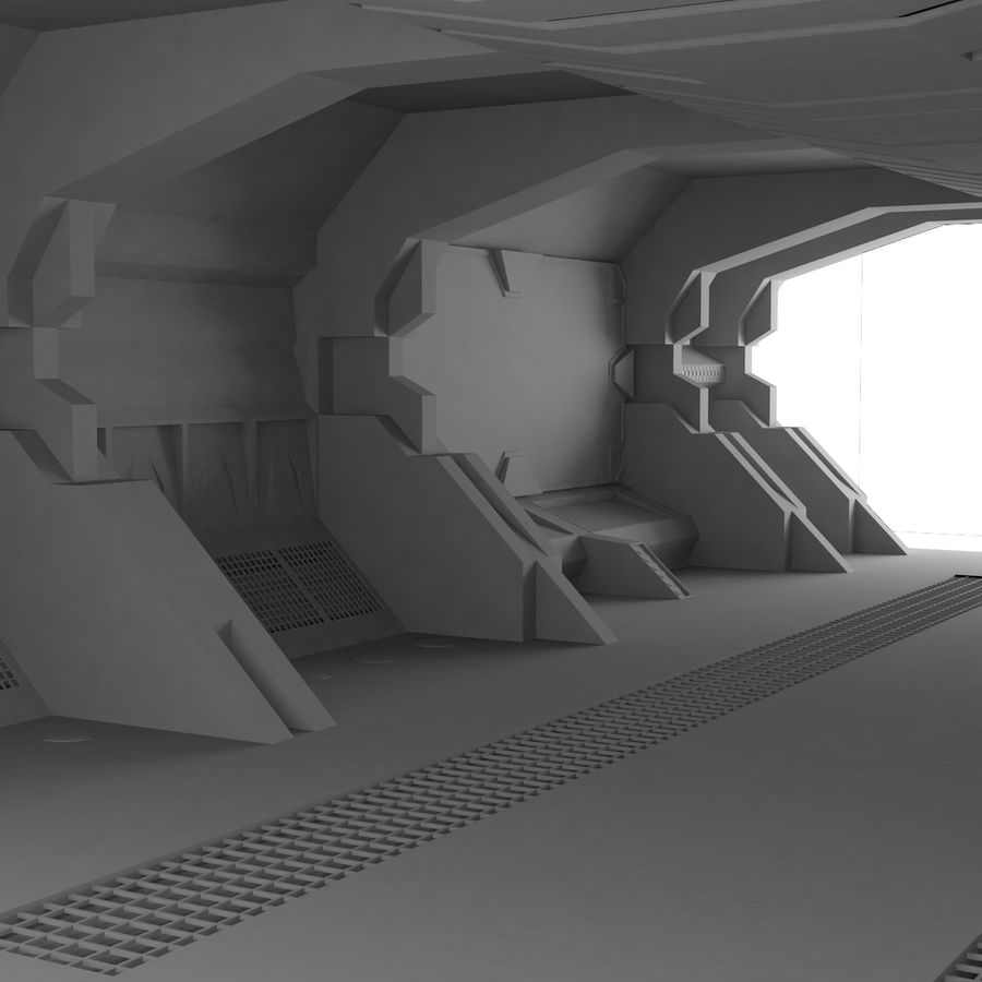 SciFi-Interieur royalty-free 3d model - Preview no. 3