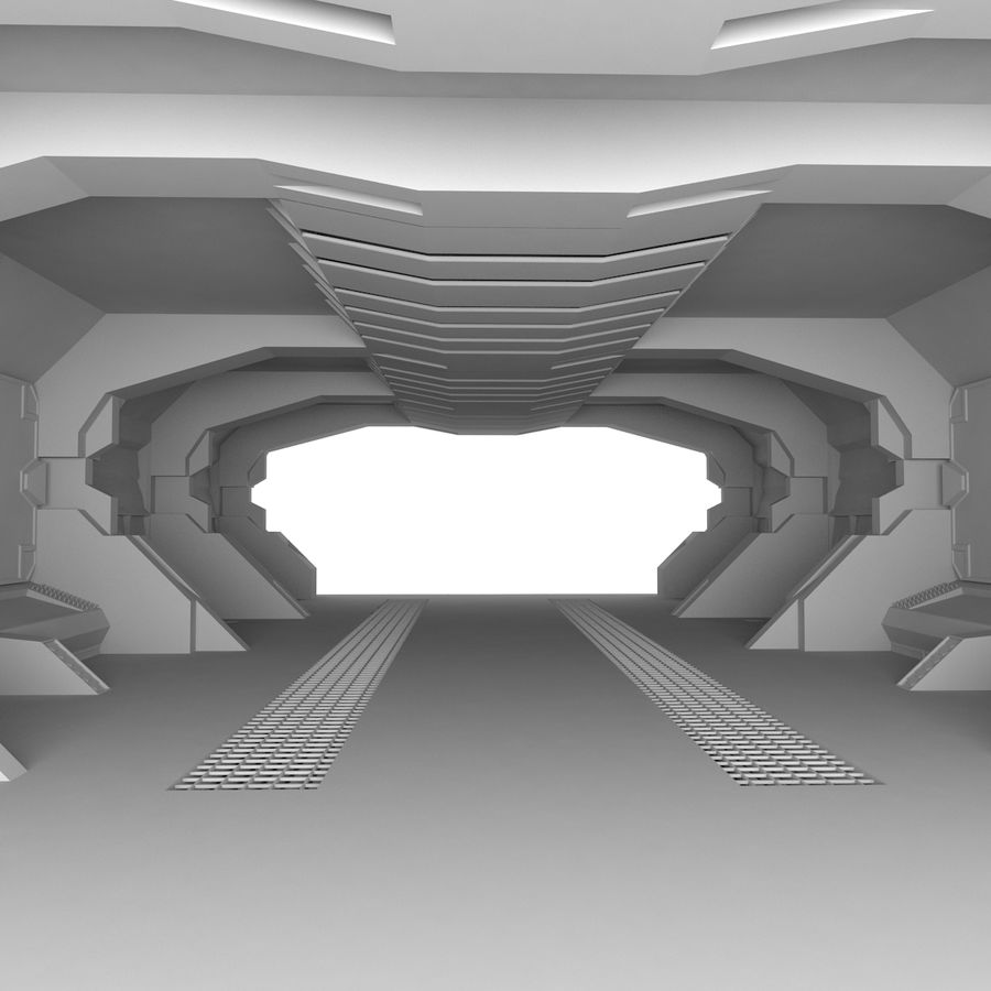 SciFi-Interieur royalty-free 3d model - Preview no. 2