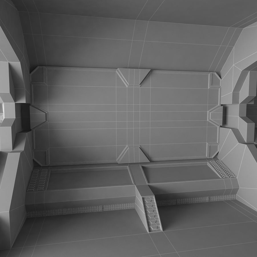 SciFi-Interieur royalty-free 3d model - Preview no. 8