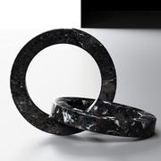 Marmurowe koła zapory Kristina Dam 3d model