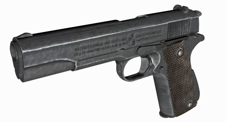 1/4 Scale Colt 1911 royalty-free 3d model - Preview no. 6