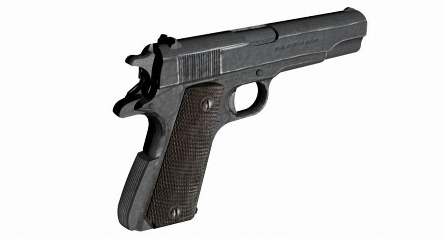 Colt 1/4 skali 1911 royalty-free 3d model - Preview no. 1