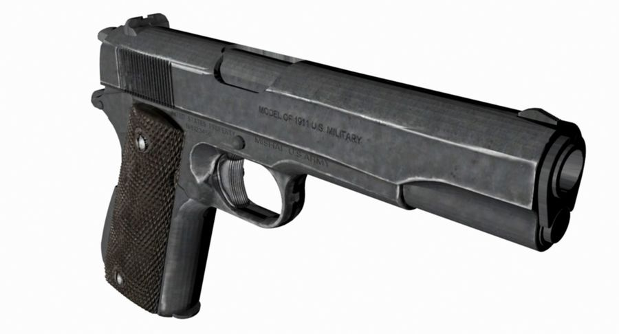 1/4 Scale Colt 1911 royalty-free 3d model - Preview no. 3