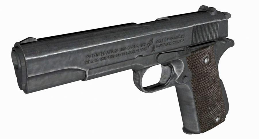 Colt 1/4 skali 1911 royalty-free 3d model - Preview no. 6
