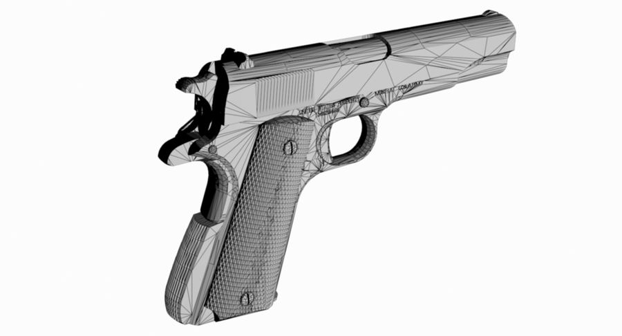 1/4 Scale Colt 1911 royalty-free 3d model - Preview no. 2