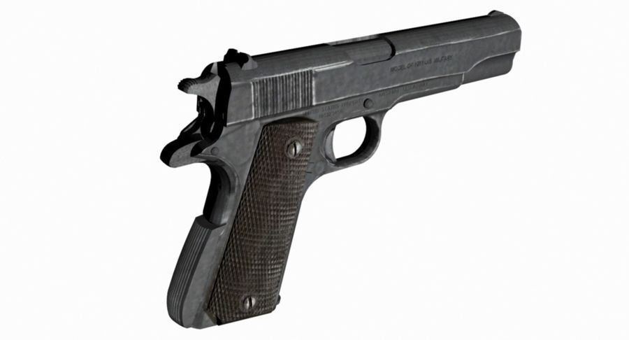 1/4 Scale Colt 1911 royalty-free 3d model - Preview no. 1