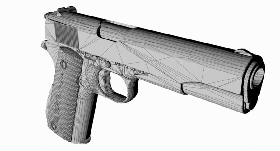 1/4 Scale Colt 1911 royalty-free 3d model - Preview no. 4