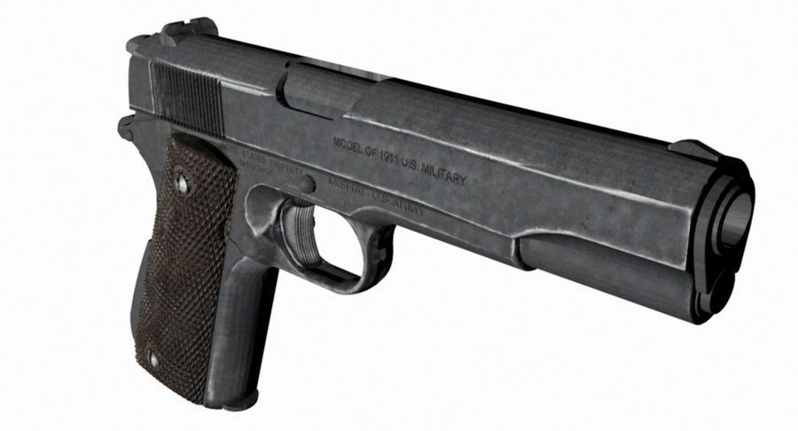 Colt 1/4 skali 1911 royalty-free 3d model - Preview no. 3