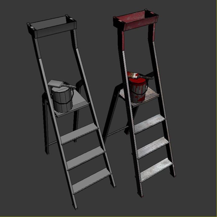 Scala da costruzione e vernice royalty-free 3d model - Preview no. 4