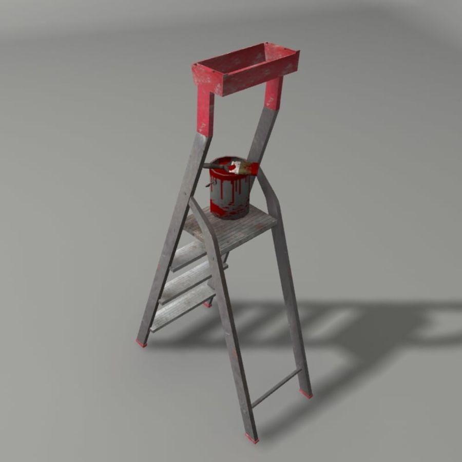 Scala da costruzione e vernice royalty-free 3d model - Preview no. 3