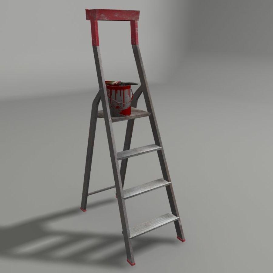 Scala da costruzione e vernice royalty-free 3d model - Preview no. 1