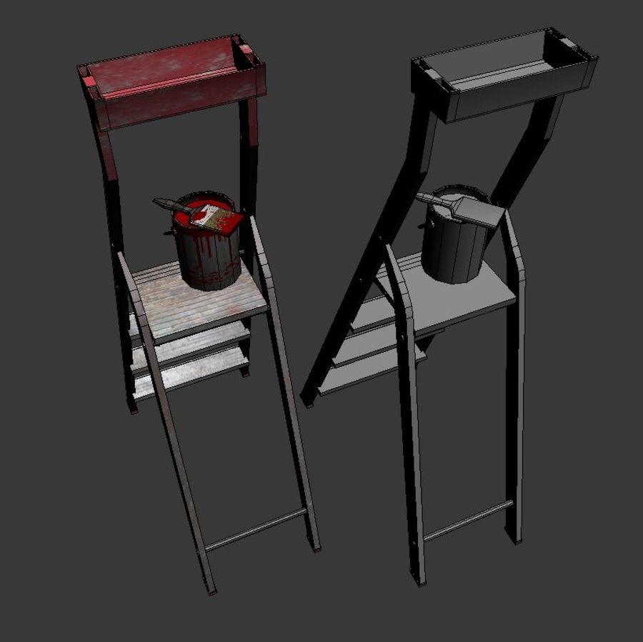 Scala da costruzione e vernice royalty-free 3d model - Preview no. 5