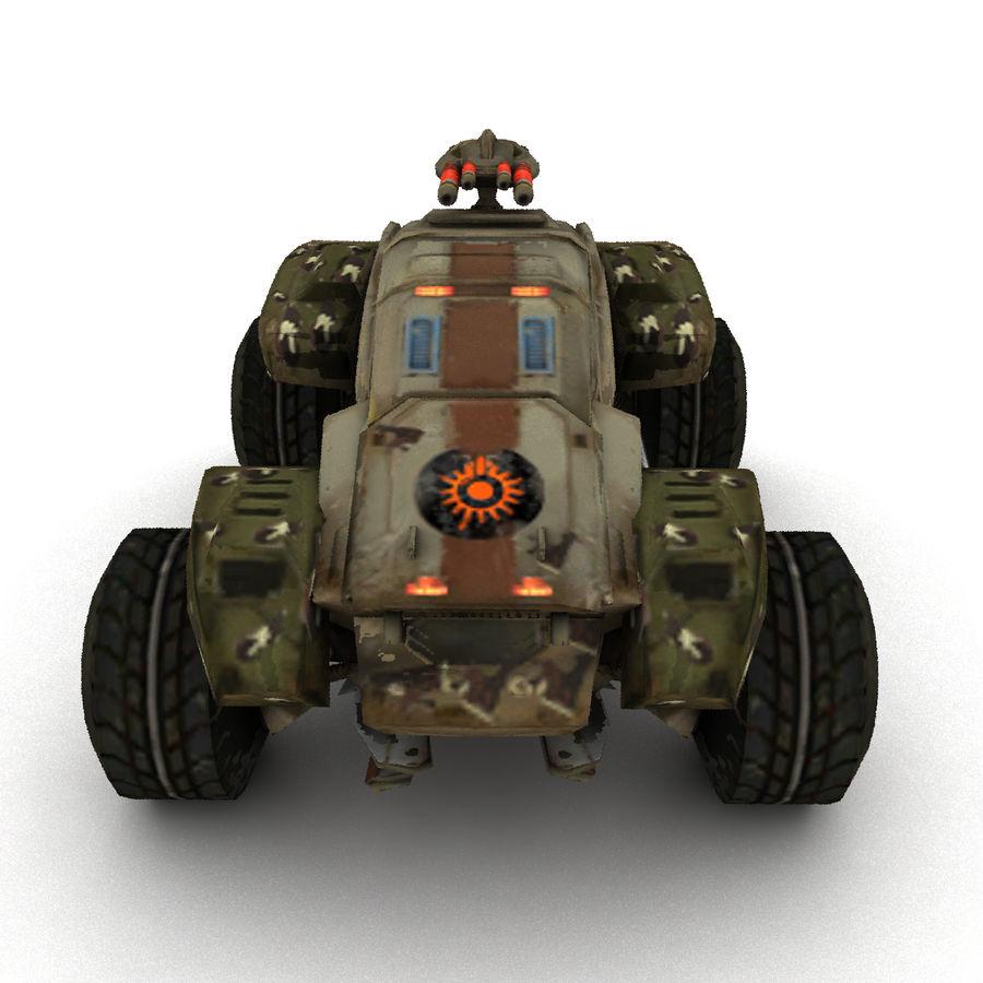Militär fordon Heavy SciFi Army Låg bil royalty-free 3d model - Preview no. 7