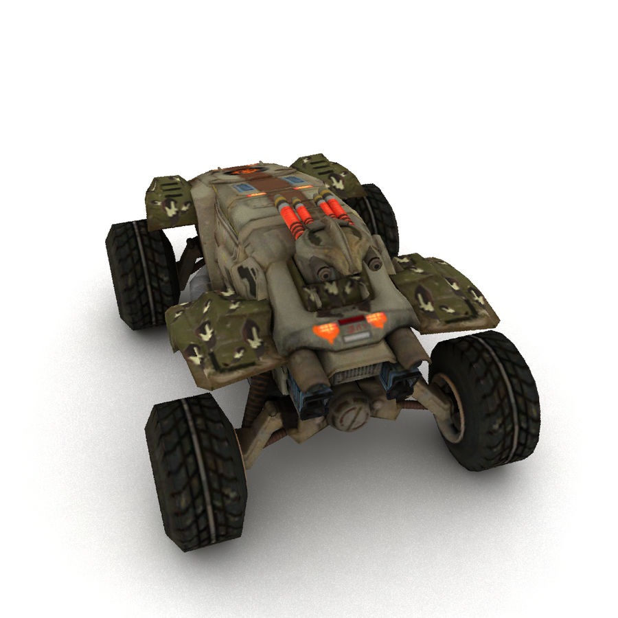 Militär fordon Heavy SciFi Army Låg bil royalty-free 3d model - Preview no. 4