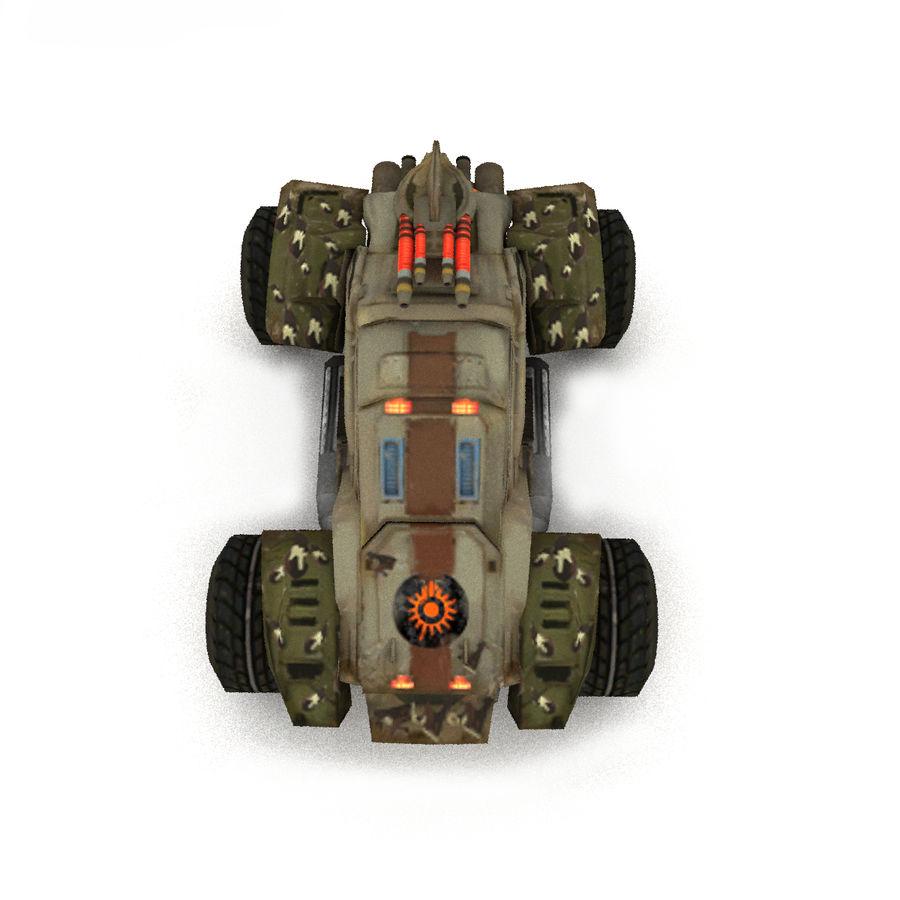 Militär fordon Heavy SciFi Army Låg bil royalty-free 3d model - Preview no. 2