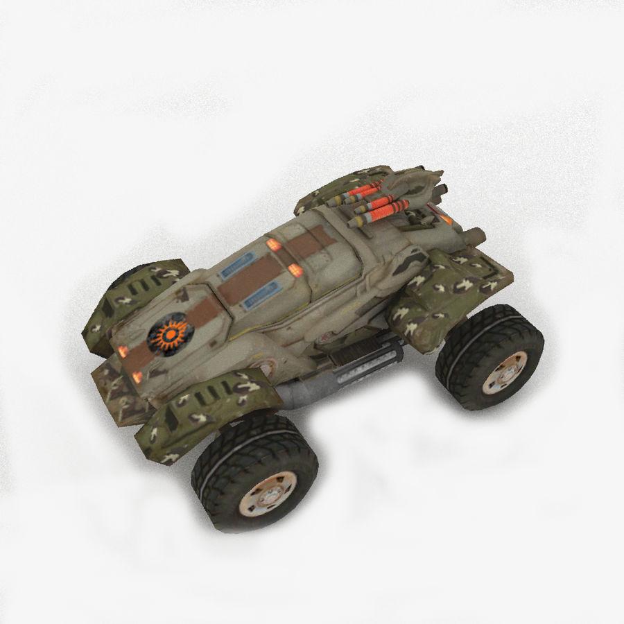 Militär fordon Heavy SciFi Army Låg bil royalty-free 3d model - Preview no. 1