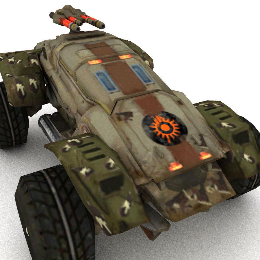 Militär fordon Heavy SciFi Army Låg bil royalty-free 3d model - Preview no. 3