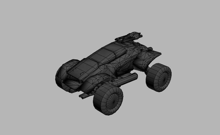 Militär fordon Heavy SciFi Army Låg bil royalty-free 3d model - Preview no. 6