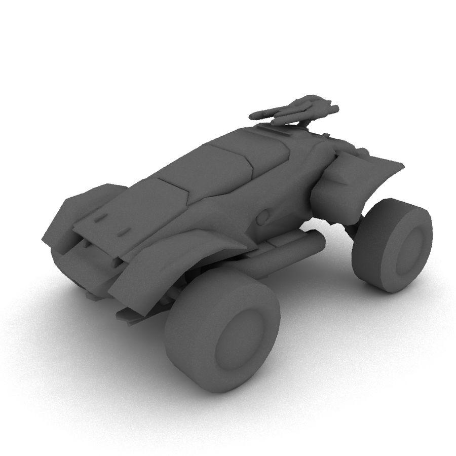Militär fordon Heavy SciFi Army Låg bil royalty-free 3d model - Preview no. 5